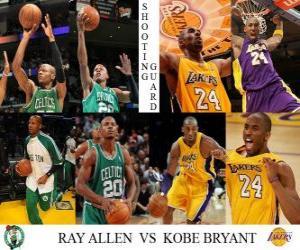 Puzle NBA Finals 2009-10, Křídlo, Ray Allen (Celtics) vs Kobe Bryant (Lakers)