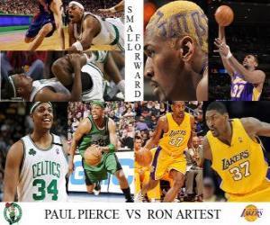 Puzle NBA Finals 2009-10, Malá vpřed, Paul Pierce (Celtics) vs Ron Artest (Lakers)