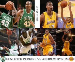Puzle NBA Finals 2009-10, Pivot, Kendrick Perkins (Celtics) vs Andrew Bynum (Lakers)