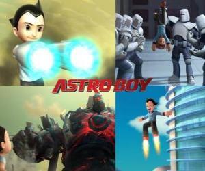 Puzle Nebo Astro Boy Astroboy, bojovat proti jeho nepřátelům