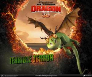 Puzle Nejmenší draci jsou Hrůzák Hrozivý, oni jsou obvykle nacházejí v hejnech