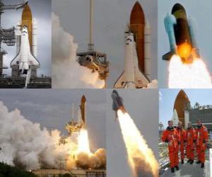 Puzle Nejnovější zahájení raketoplánu Atlantis