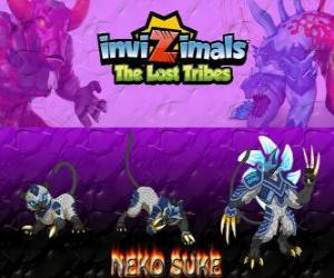 Puzle Neko Suke, nejnovější vývoj. Invizimals The Lost Tribes. Toto tajné invizimal je Pán klamu