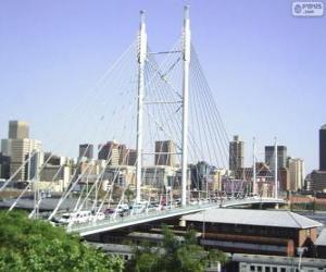 Puzle Nelson Mandela most, Johannesburg, Jihoafrická republika