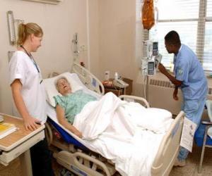 Puzle Nemocniční pokoj
