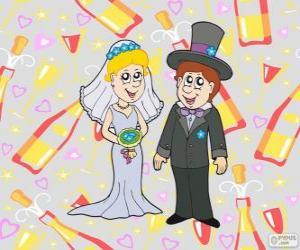 Puzle Nevěsta a ženich