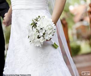 Puzle Nevěsta s kyticí