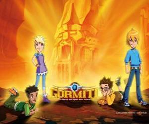 Puzle Nick, Toby, Jessica a Lucas, čtyři přátelé, kteří se pánů z přírody uložit Gorm