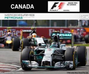 Puzle Nico Rosberg - Mercedes - Grand Prix Kanady 2014, svírající klasifikované