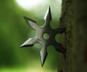 Puzle Ninja hvězda - shuriken-