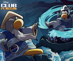 Puzle Ninja tučňáci, postavy slavného Club Penguin