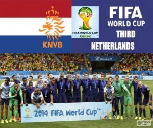 Puzle Nizozemsko 3 klasifikován z Brazílie 2014 fotbalové mistrovství světa