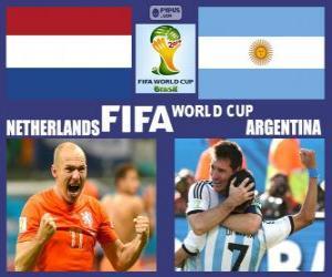 Puzle Nizozemsko - Argentina, semi-finále, Brazílie 2014