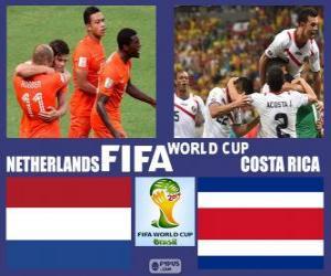 Puzle Nizozemsko - Costa Rica, čtvrtfinále, Brazílie 2014