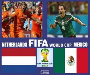 Puzle Nizozemsko - Mexiko, osmé finále, Brazílie 2014