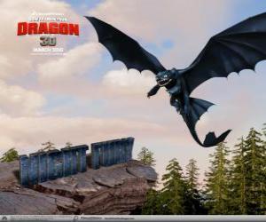Puzle Noční Fúrie jsou malé, že draci mohou létat výš, rychleji a dál, než jakýkoli jiný drak