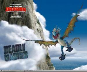 Puzle Nodr Smrťák draci jsou rychlé a agilní ve vzduchu a může létat na dlouhé vzdálenosti