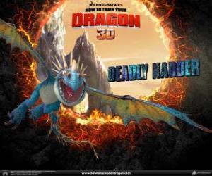 Puzle Nodr Smrťák, jeden z nejkrásnějších draků na světě, který má nejžhavější požáru