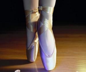 Puzle Nohy tanečnice s baletní špičky