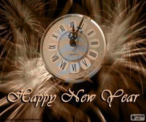 Puzle Nový rok hodiny