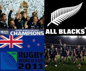 Puzle Nový Zéland rugby mistra světa. Mistrovství světa v ragby 2011