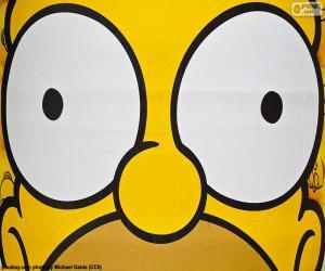 Puzle Oči, Homer Simpson