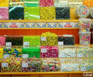 Puzle Obchod se sladkostmi