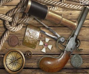 Puzle Objekty ze starého průzkumníka