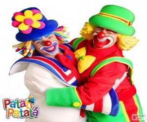Puzle Objetí klauni, Patatí a Patatá