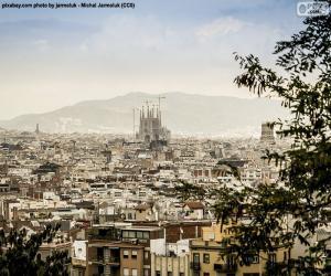 Puzle Obrázek z Barcelony