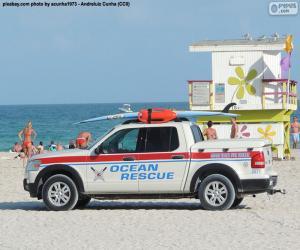 Puzle Ocean záchranné auto od Miami Beach