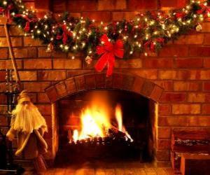 Puzle Oheň zapálil na Štědrý den