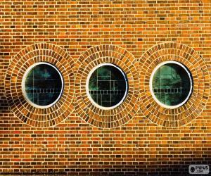 Puzle Okrouhlá okna