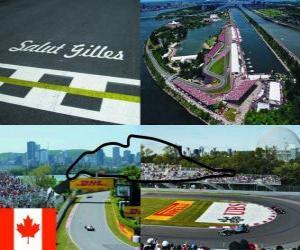 Puzle Okruhu Gilles Villeneuve - Kanada -