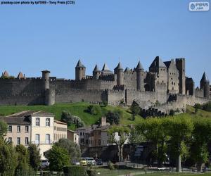 Puzle Opevněné město Carcassonne, Francie