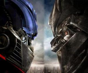 Puzle Optimus vs Megatrone