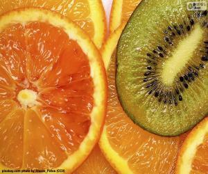 Puzle Oranžová a kiwi