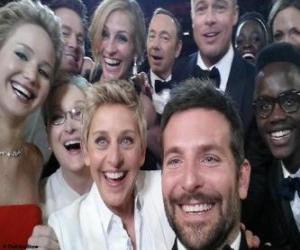 Puzle Oscary 2014, selfie