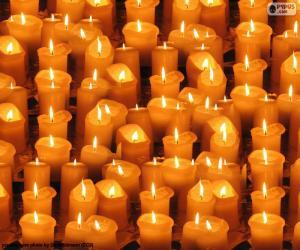 Puzle Osvětlený Vánoční svíčky