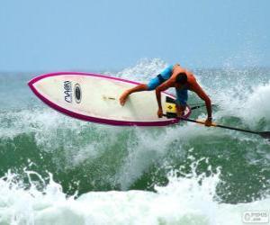 Puzle Pádlo surfování