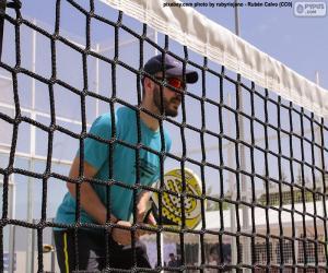Puzle Pádlo tenista v síti