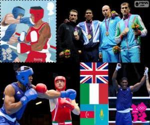 Puzle Pánská super těžký boxu pódium Londýn 2012