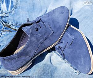 Puzle Pánské modré boty