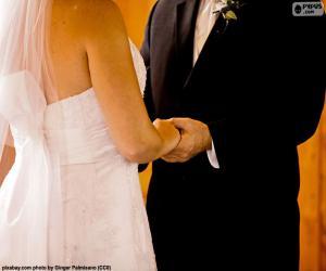 Puzle Pár na jejich svatbu