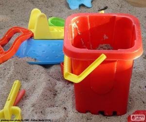 Puzle Písek hračky
