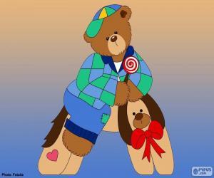 Puzle Písmeno A medvědů