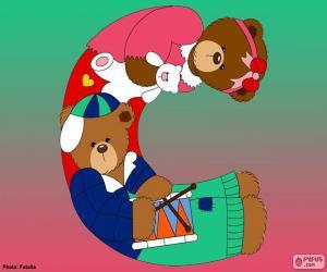 Puzle Písmeno C medvědů