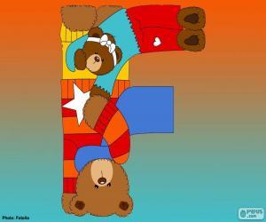 Puzle Písmeno F medvědů