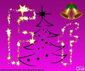 Puzle Písmeno F na Vánoce