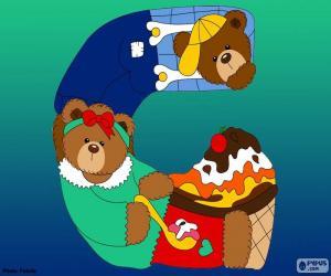 Puzle Písmeno G medvědů